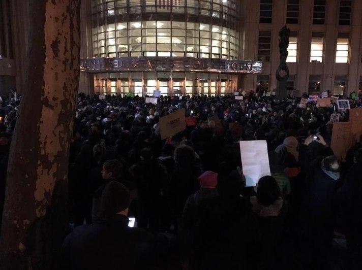 Cadman Plaza protest