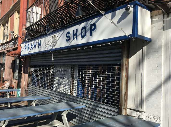 prawn shop closure