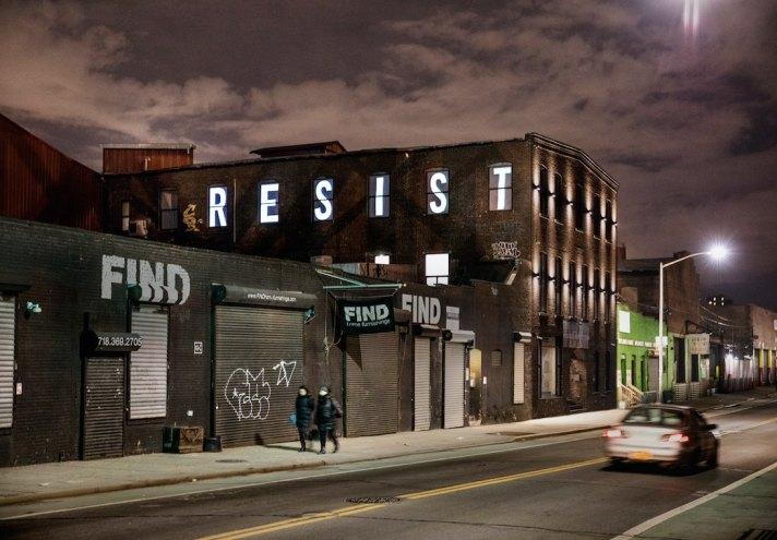 RESIST sign