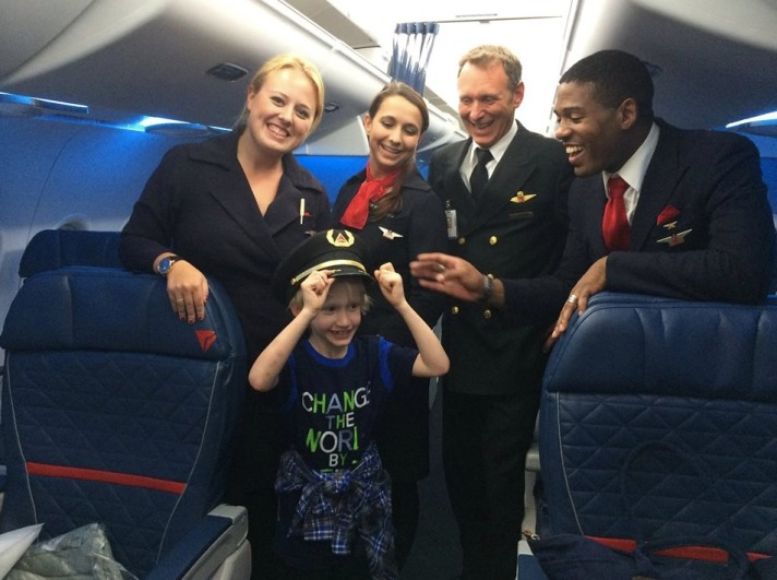 Henry Bush and the Delta Flight crew.