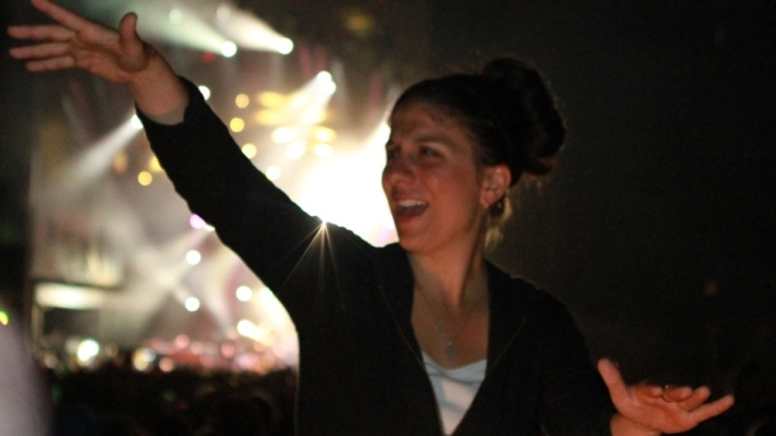 Sign language interpreter Holly Maniatty