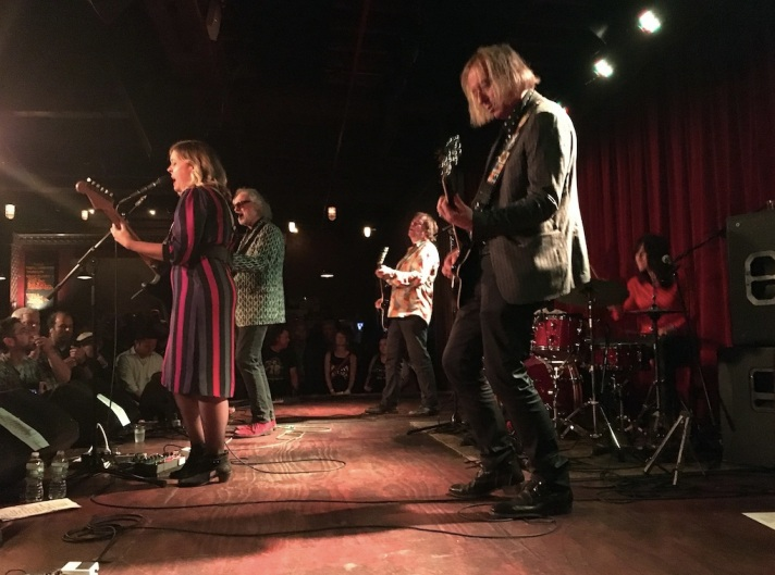 [L-R] Corin Tucker, Scott McCaughey, Kurt Bloch, Peter Buck, and Linda Pitmon of Filthy Friends at The Bell House on Wednesday, September 6, 2017.